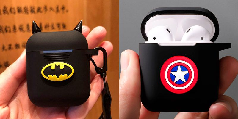funda airpods de superheroes